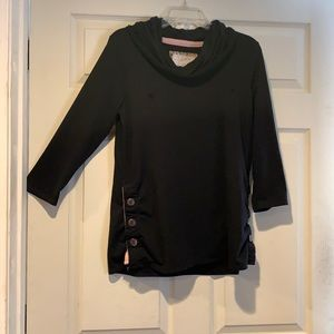 💋3 for $40! Cowl Neck Sweater Side Button Detail
